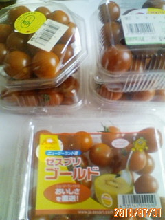 プチトマトの収穫